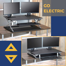 Black Electric Attollo Standing Desk