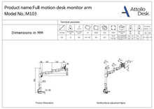 Single Monitor Mount - Attollo Desk