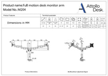 Dual Monitor Stand - Attollo Desk