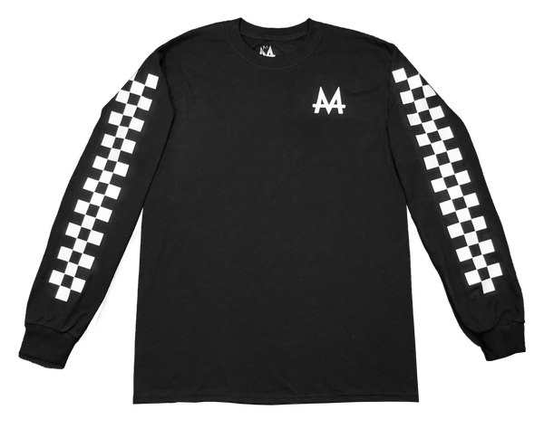 Checkered Money Long sleeve | Black | Whiteout - Money by Mark, Shirt