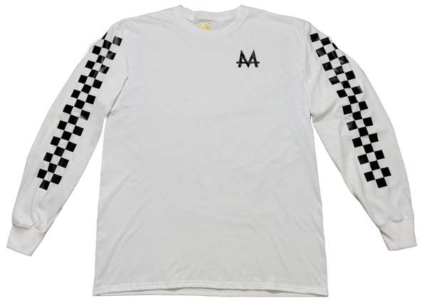 Checkered Money Long sleeve | White | Blackout - Money by Mark, Shirt