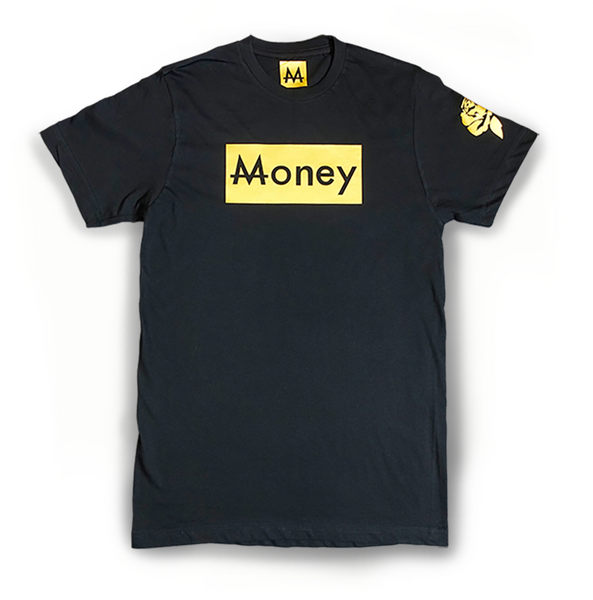 Money Tee | Blk. | 24k Gold