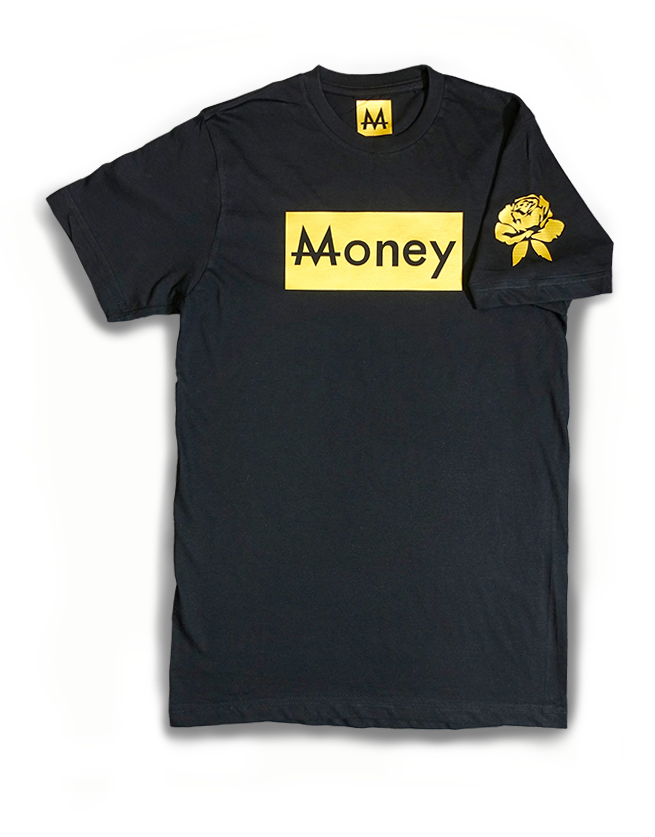 Money Tee | Blk. | 24k Gold - Money by Mark, Shirts