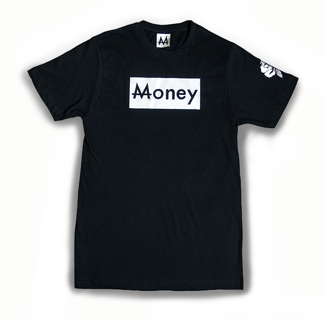 Money Tee | Blk. | Sterling Silver - Money by Mark, Shirts