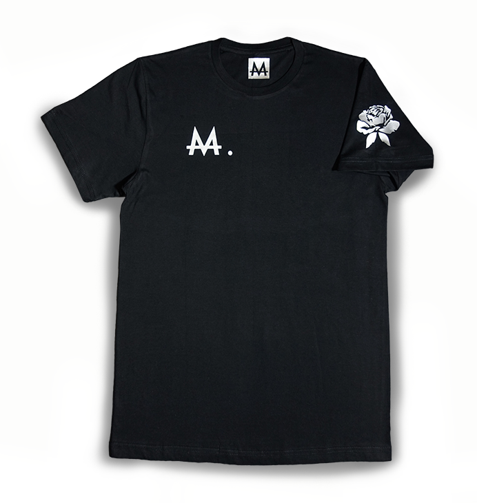 Money Logo Tee | Black | Sterling Silver - Money by Mark, Shirt