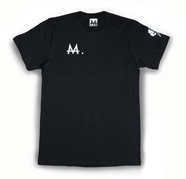 Money Logo Tee | Black | Sterling Silver