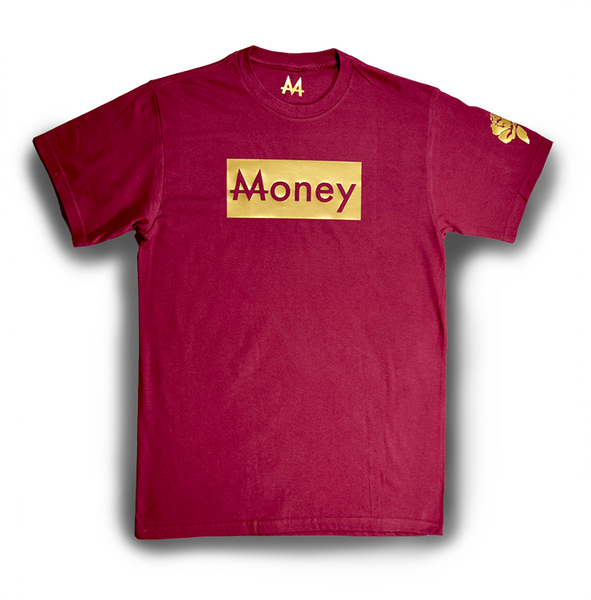 Money Tee | Crimson | 24k Gold