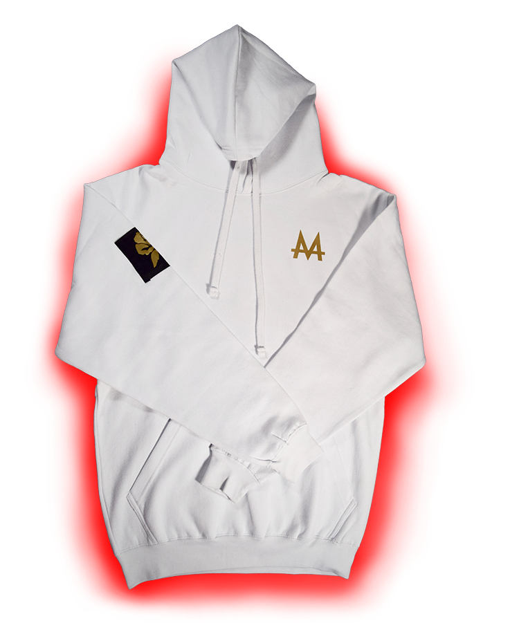 Money Hoodie | White | 24k Gold | Red Label Collection - Money by Mark, Hoodie