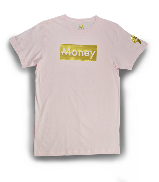 Money Tee | Light Pink | 24k Gold