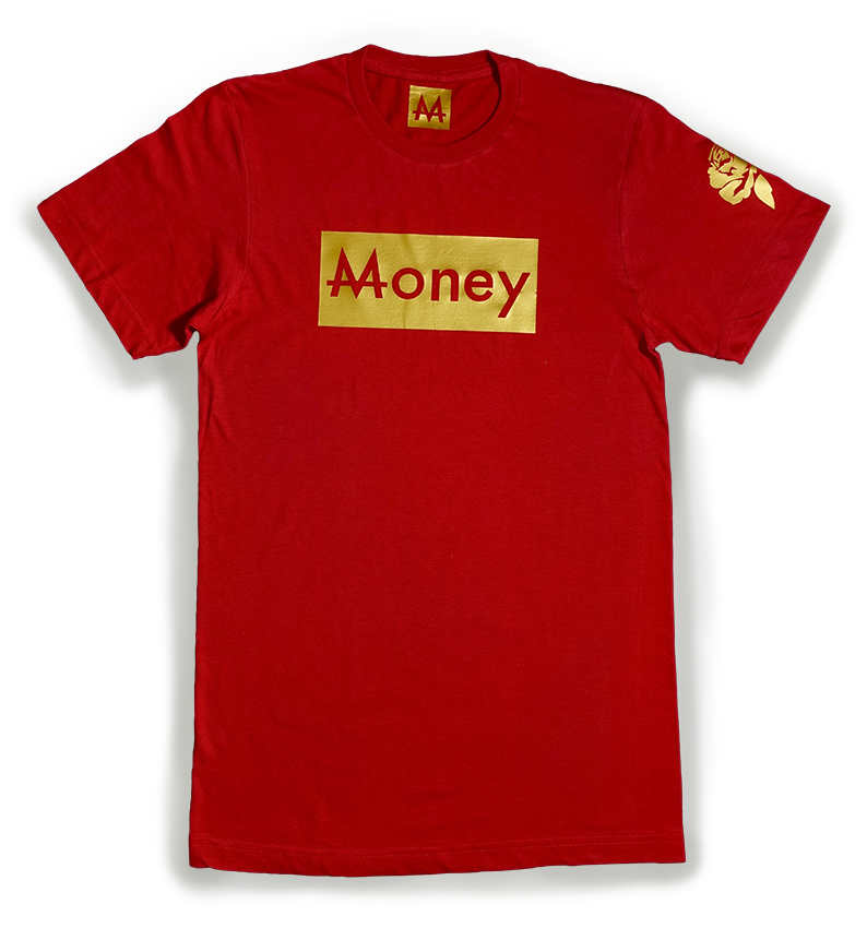Money Tee | Rose | 24k Gold