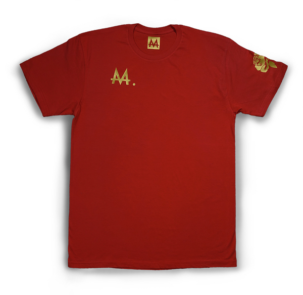 Money Logo Tee | Rose | 24k Gold
