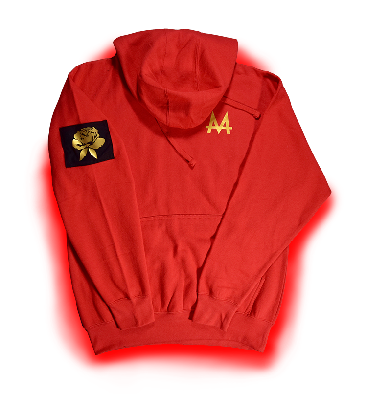Money Hoodie | Red | 24k Gold | Red Label Collection - Money by Mark, Hoodie