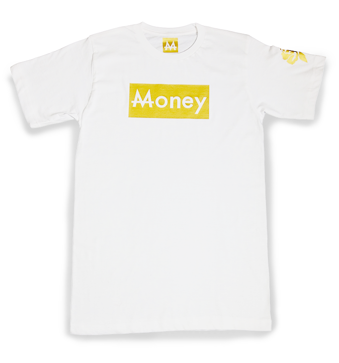 Money Tee | White | 24k. Gold - Money by Mark, Shirts