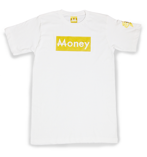Money Tee | White | 24k. Gold