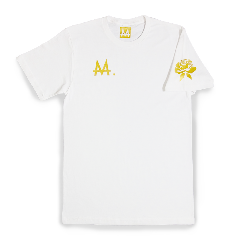 Money Logo Tee | White | 24k. Gold