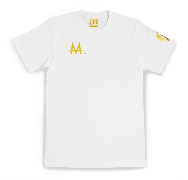 Money Logo Tee | White | 24k. Gold - Money by Mark, Shirt