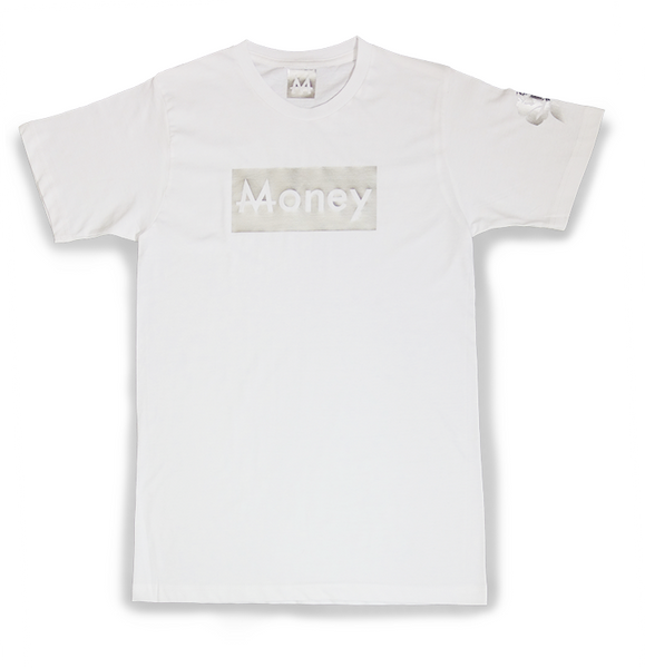 Money Tee | White | Sterling Silver