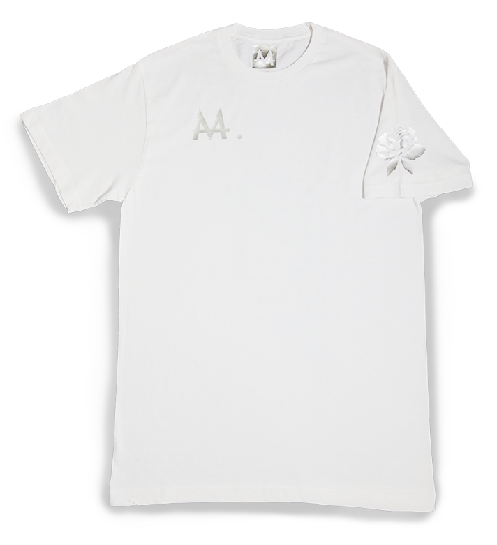 Money Logo Tee | White | Sterling Silver