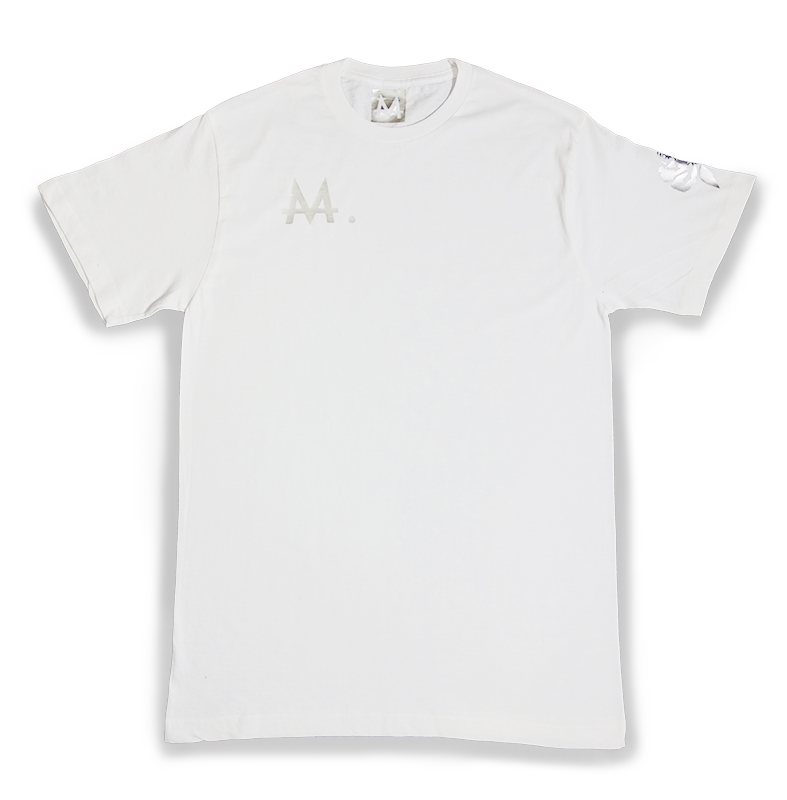 Money Logo Tee | White | Sterling Silver - Money by Mark, Shirt