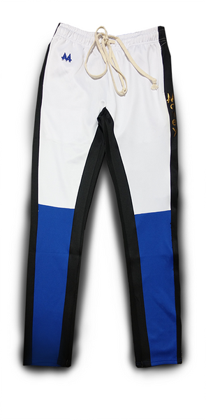 Money Drawstring Pants | Blue | Black/White | 24k Gold