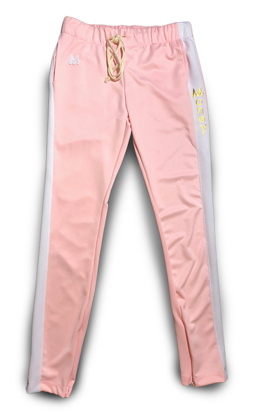 Money Drawstring Pants | Pink | White | 24k Gold