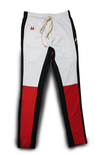 Money Drawstring Pants | Red | Black/White | 24k Gold