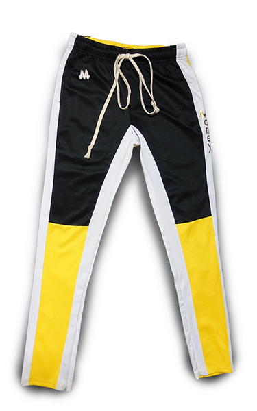 Money Drawstring Pants | Yellow | Black/White | 24k Gold