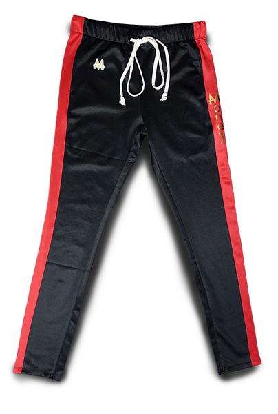 Money Drawstring Pants | Black | Red | 24k Gold