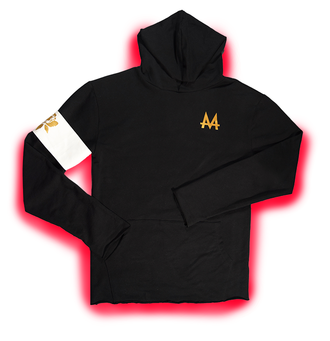 V.I.P. Money Hoodie | Black | White Armband | 24k Gold | Red Label Collection - Money by Mark, Hoodie