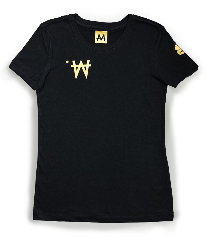 Money Tee Woman | Blk. | 24k Gold