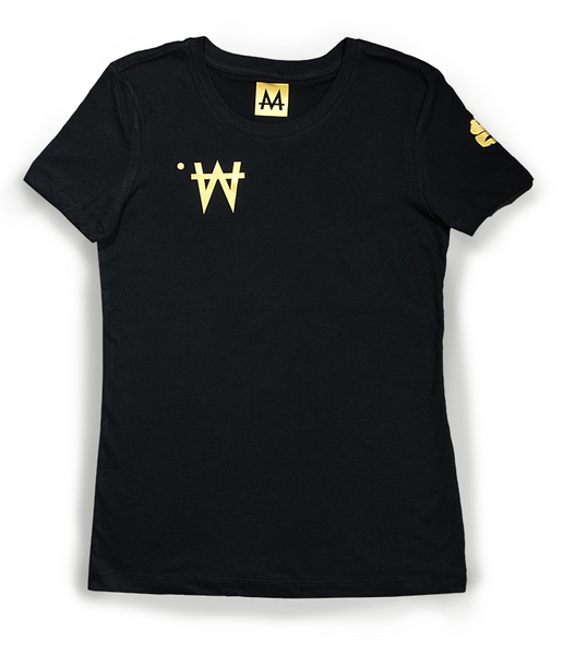 Money Tee Woman | Blk. | 24k Gold - Money by Mark, Shirt