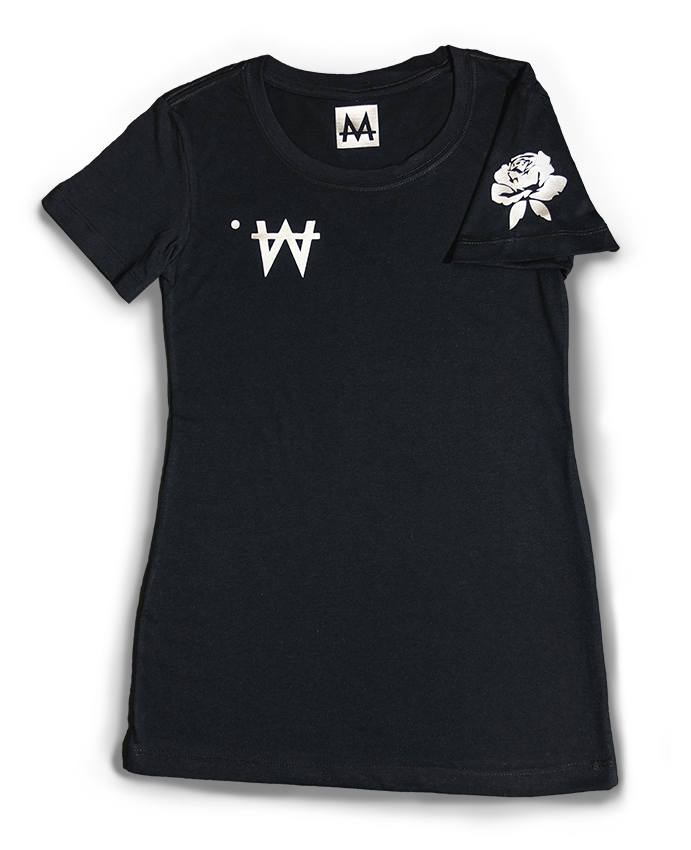 Money Tee Woman | Blk. | Sterling Silver - Money by Mark, Shirt