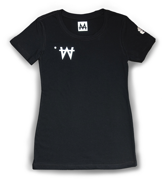 Money Tee Woman | Blk. | Sterling Silver