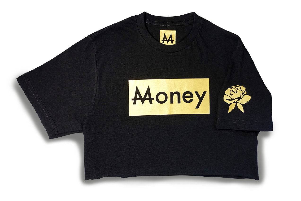 Money Thot Top | Black | 24k. Gold - Money by Mark, Shirts