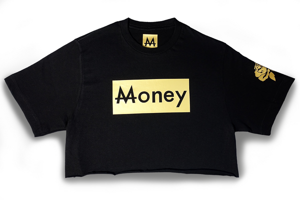 Money Thot Top | Black | 24k. Gold