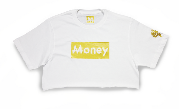Money Thot Top | White | 24k Gold