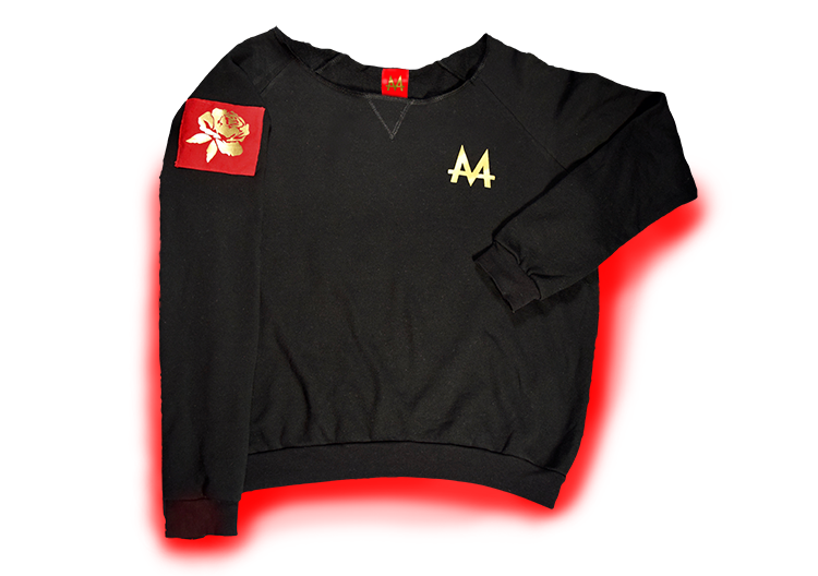 Money Wide Crewneck | Black | 24k Gold | Red Label Collection - Money by Mark, Hoodie