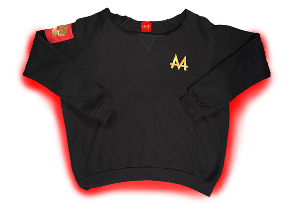 Money Wide Crewneck | Black | 24k Gold | Red Label Collection