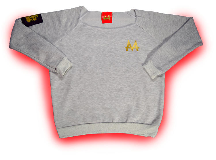 Money Wide Crewneck | Grey | 24k Gold | Red Label Collection - Money by Mark, Hoodie