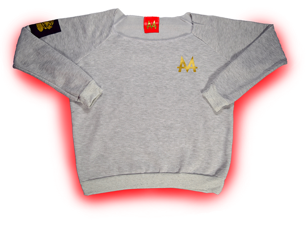 Money Wide Crewneck | Grey | 24k Gold | Red Label Collection