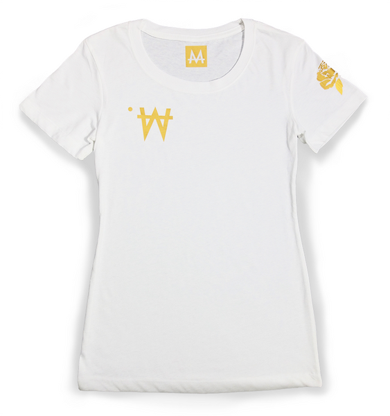 Money Tee Woman | White | 24k Gold