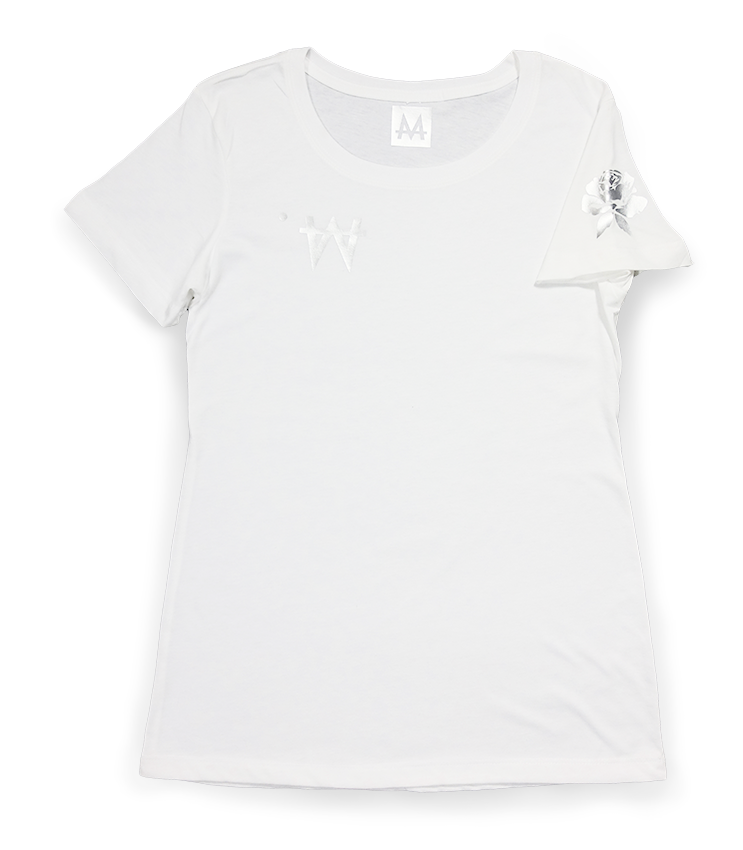 Money Tee Woman | White | Sterling Silver