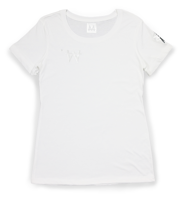 Money Tee Woman | White | Sterling Silver - Money by Mark, Shirt