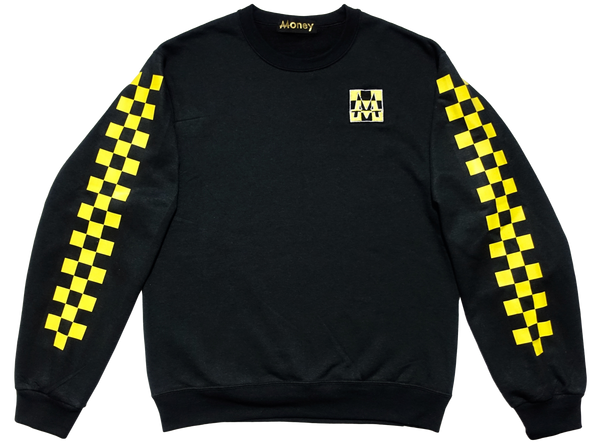 Checkerboard Crewneck | Black | Lemon - Money by Mark, Sweater