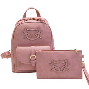 Fashion Cute Cat Bagpack Set
