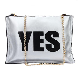 YES/No bold handbag