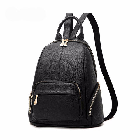 Zipper Vintage black Backpack