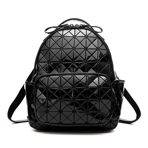 Black shiny Triangles backpack