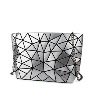 Geometric chain cross body bag
