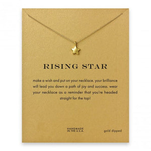 Dazzling Gold Rising Star Pendant Necklace. - love myself deals